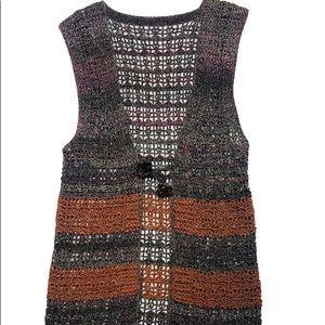 Vintage sleeveless knit Cardigan